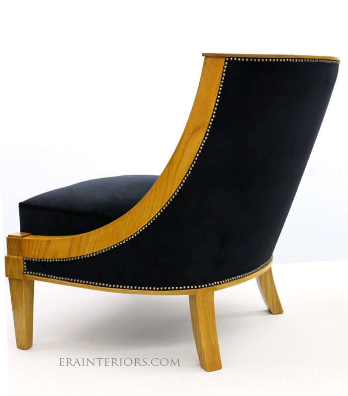Art Deco slipper chair