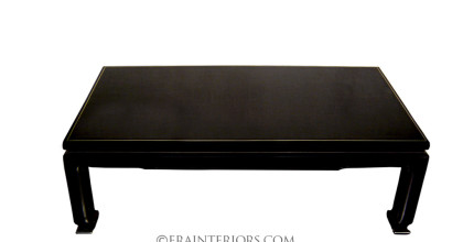 Chinoiserie black lacquer coffee table