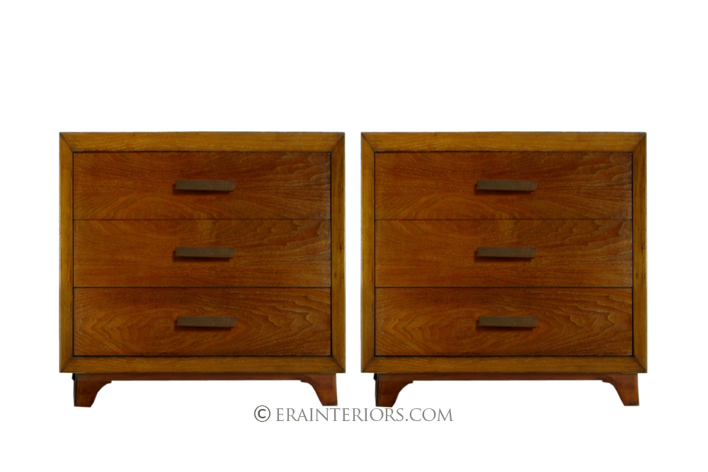 Solid cherry three drawer nightstands