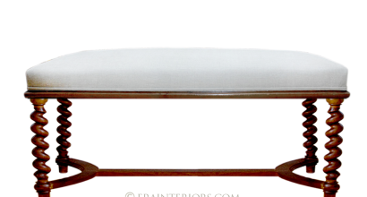 French Turned Legs Bench