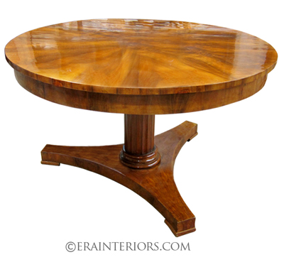 biedermeier round center table platform base