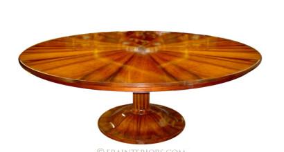 biedermeier round dining table