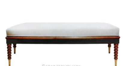 ebonized classic mahogany bench