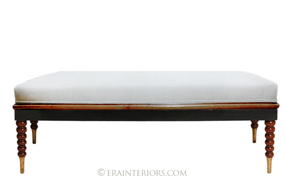 ebonized classic mahogany bench