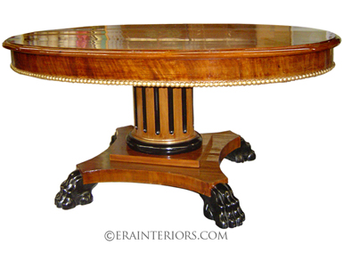 empire american round dining table with claw feet