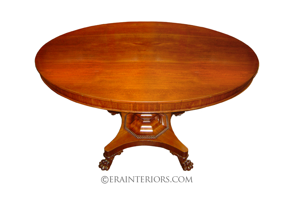 Georgian Round Dining Table With Claw Feet