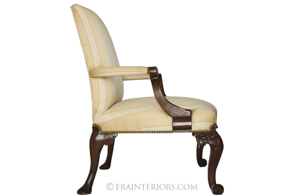 Georgian Library Lounge Chair