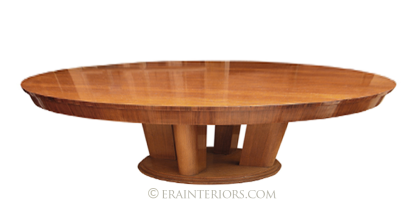 mid century round coffee table