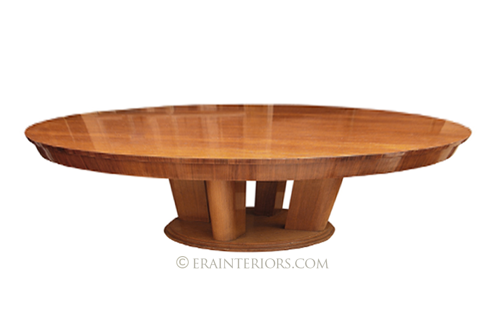Mid century round coffee table era interiors What to put on a round coffee table