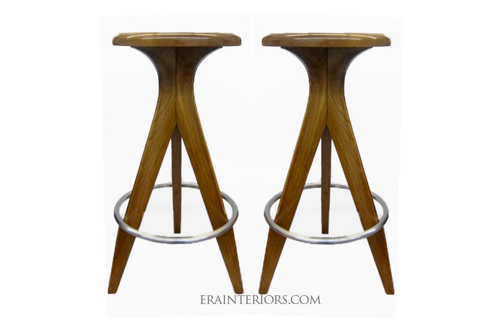 mid century modern counter bar stools era interiors