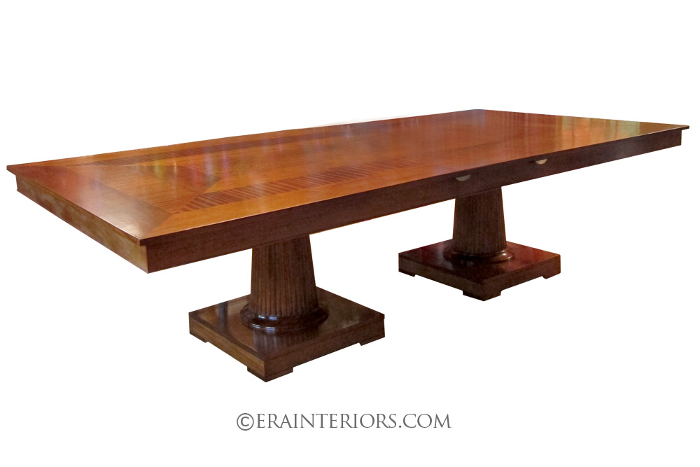 Neoclassical Double Pedestal Dining Table
