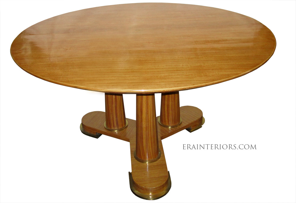 neoclassical round dining table