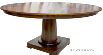 round neoclassical dining table by ERA Interiors
