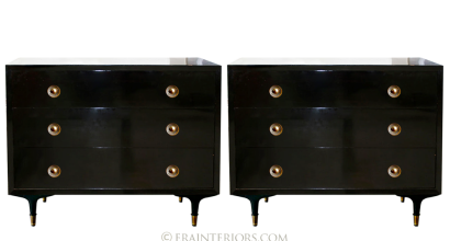 Black Lacquer Dressers