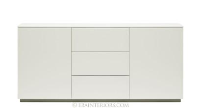 white lacquer console