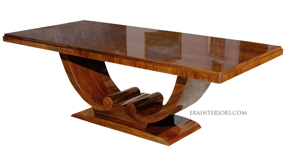 Excellent Art Deco Dining Table With Arched Base Era Interiors Download Free Architecture Designs Photstoregrimeyleaguecom