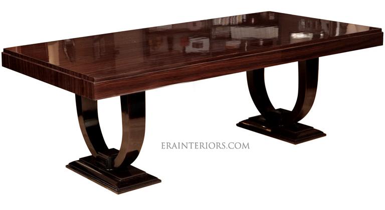Art Deco Rectångular Dining Table Era